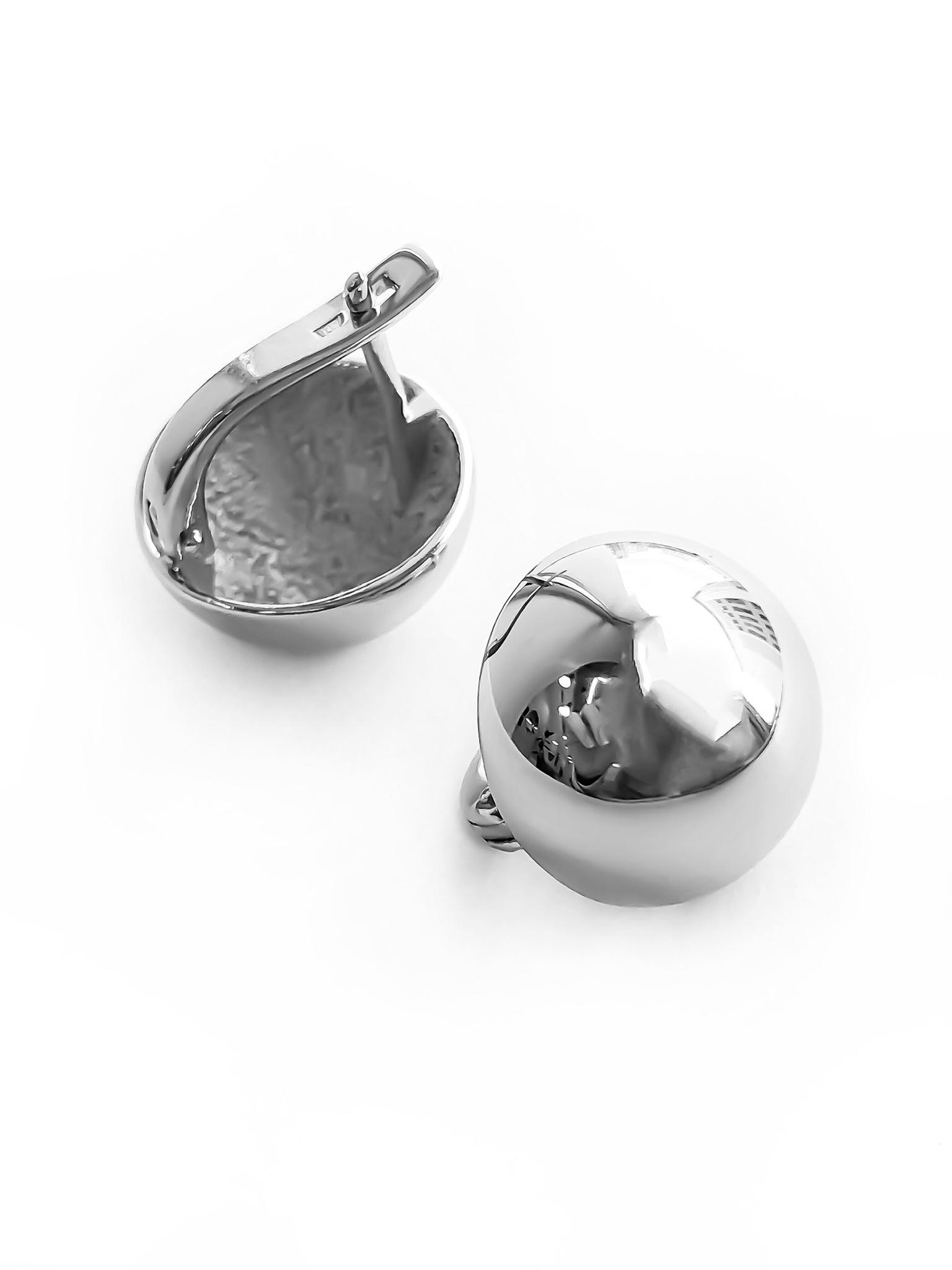 Серебряные серьги-шары