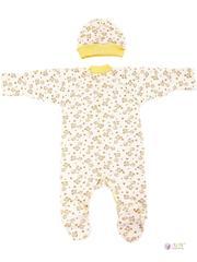 ФЭСТ, Hunny Mammy. Комплект детский стерильный, в роддом, молочный/коричневый/желтый вид 2