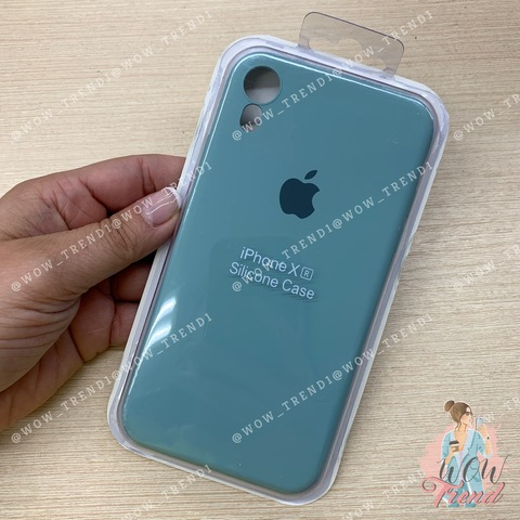 Чехол iPhone XR Silicone Slim Case /mint/