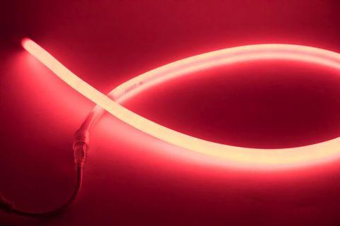 Гибкий неон круглый SMD2835-120 LED/м-220 В-6,5 Вт/м-IP67-красный (25м) TDM