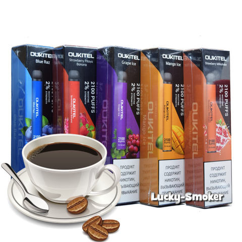 Oukitel (2100 затяжек) Coffee