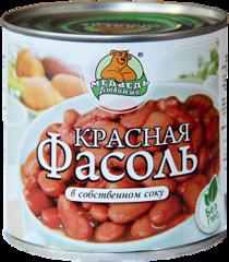 """Фасоль """"Медведь любимый"""" красная 425 мл"""