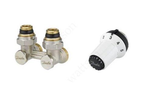 Комплект: узел нижнего подключения RLV-KS угловой + термоголовка RTR-CK, M30 x 1.5