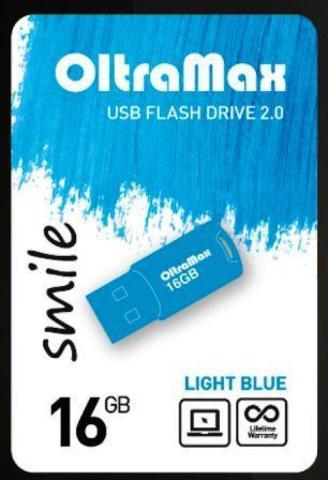 Флеш-накопитель USB 16GB OltraMax  Smile голубой