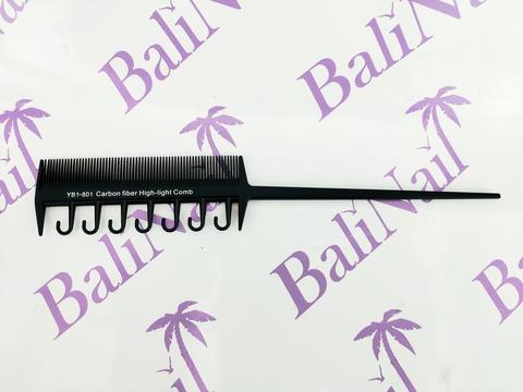 Расчёска профессиональная карбоновая антистатическая YB1-801