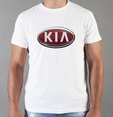 Футболка с принтом KIA (КИА) белая 004
