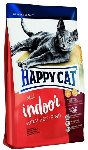 Сухой корм Happy Cat Adult Indoor Voralpen-rind
