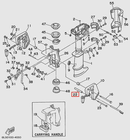 Втулка  распорная для лодочного мотора T3S SEA-PRO (15-22)