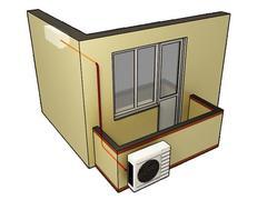 Фото Монтаж сплит-системы через балкон до 09 моделей