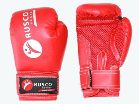 Перчатки боксёрские RUSCOsport, красные,10 Oz: К-10