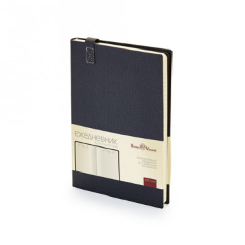 Ежедневник недатированный Bruno Visconti Trend искусственная кожа А5 136 листов черный (147x214 мм)