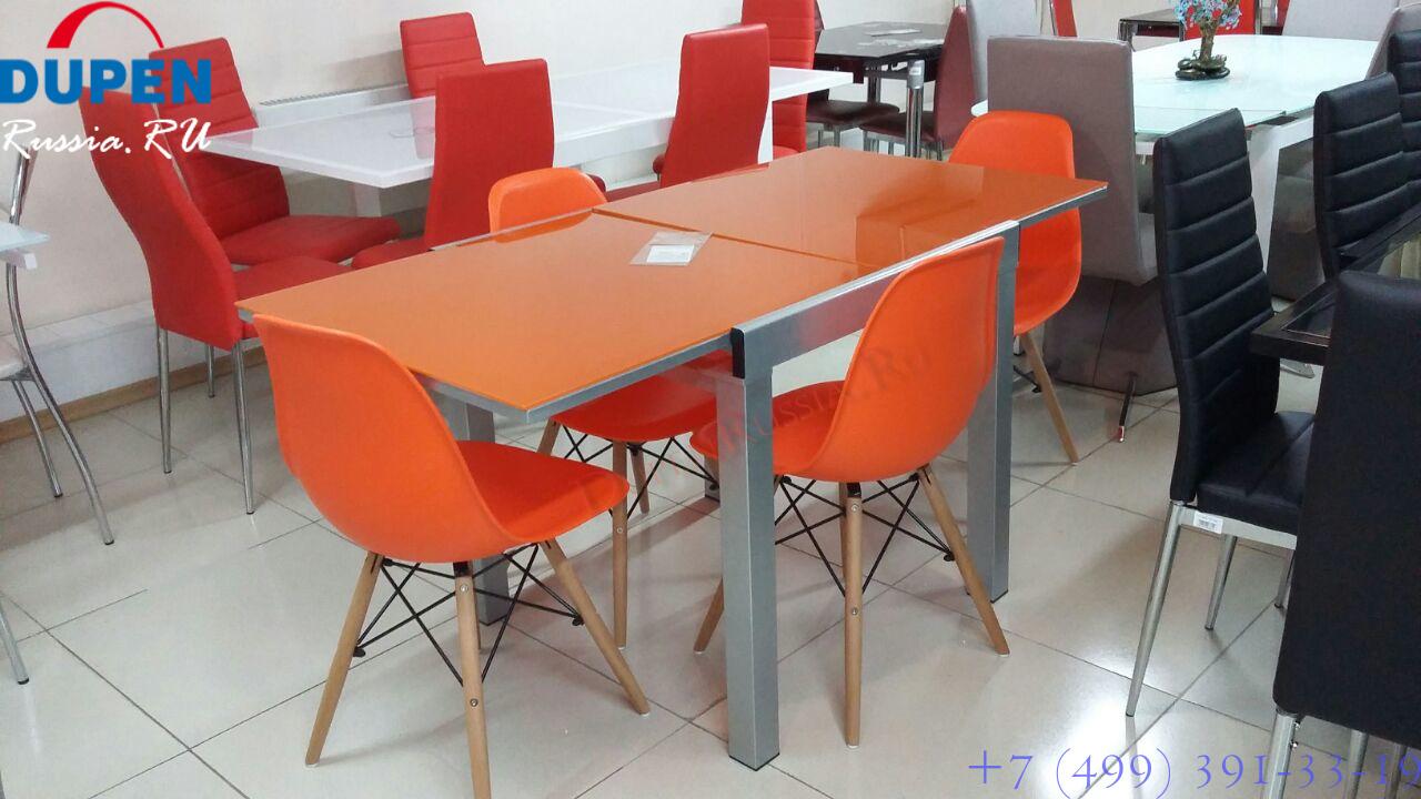 Стол ESF LT4001 оранжевый и Стулья ESF Y-971 оранжевый