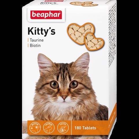 Beaphar Кормовая добавка Kitty's + Taurine-Biotine с биотином и таурином для кошек 180 таб