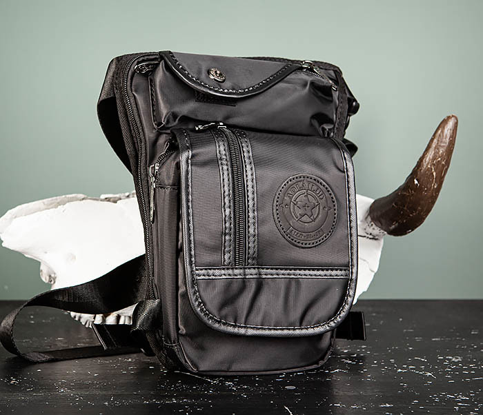 BAG506-1 Черная набедренная сумка из ткани «Оксфорд»