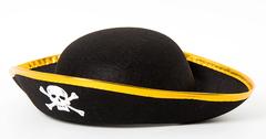 Карнавальная шляпа Пират, Черный, большая