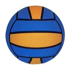 Тренировочный ватерпольный мяч MEGA water polo ball blue-yellow W4 Размер 4 для женщин/юниоров арт.B-MEGA-4-0601