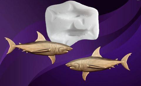 Силиконовый молд Акулы зеркальные ( право/лево) 2 шт