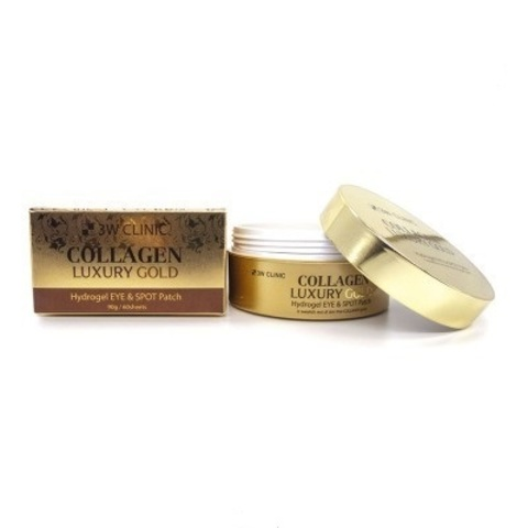 3W Clinic Collagen Luxury Gold Hydrogel Eye & Spot Patch гидрогелевые патчи под глаза на основе золота и коллагена