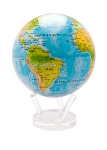 Глобус MOVA GLOBE Общегеографическая карта мира, бежевый (16,5см)