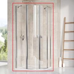 Душевой уголок с распашными дверями 90х90х195 см Ravak Chrome CSKK4-90 3Q170100Z1 фото