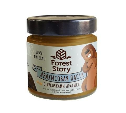 Паста арахисовая с кусочками арахиса / Forest Story / 180 г