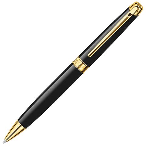 Carandache Leman - Ebony Black Lacquer GP, шариковая ручка, F