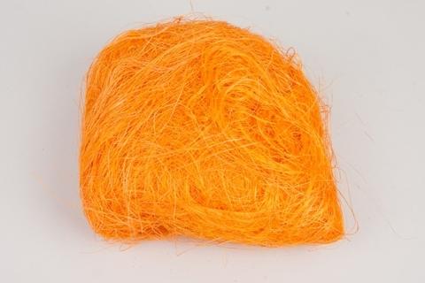 Волокно сизаля 100г (Цвет: оранжевое)