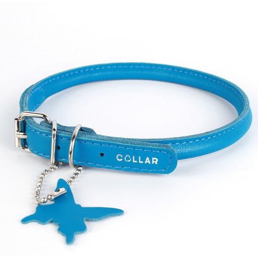 круглые кожаные ошейники для собак collar купить  в интернет-магазине