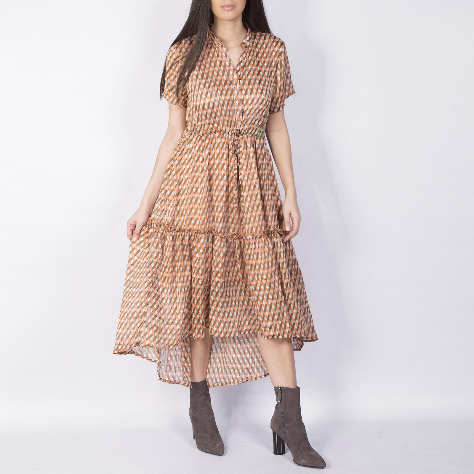 Платье, Ballerina, Z2702 (бежевый орнамент)