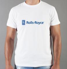 Футболка с принтом Роллс-Ройс (Rolls-Royce) белая 001
