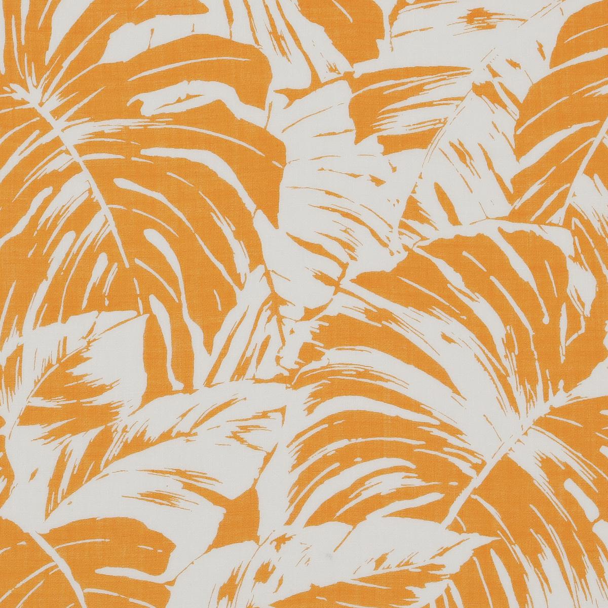 Полупрозрачный батист с оранжевыми листьями