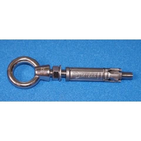 Анкерное крепление AISI-316 в борт бассейна, гильза, кольцо /001-0038/001-0055/001-1555