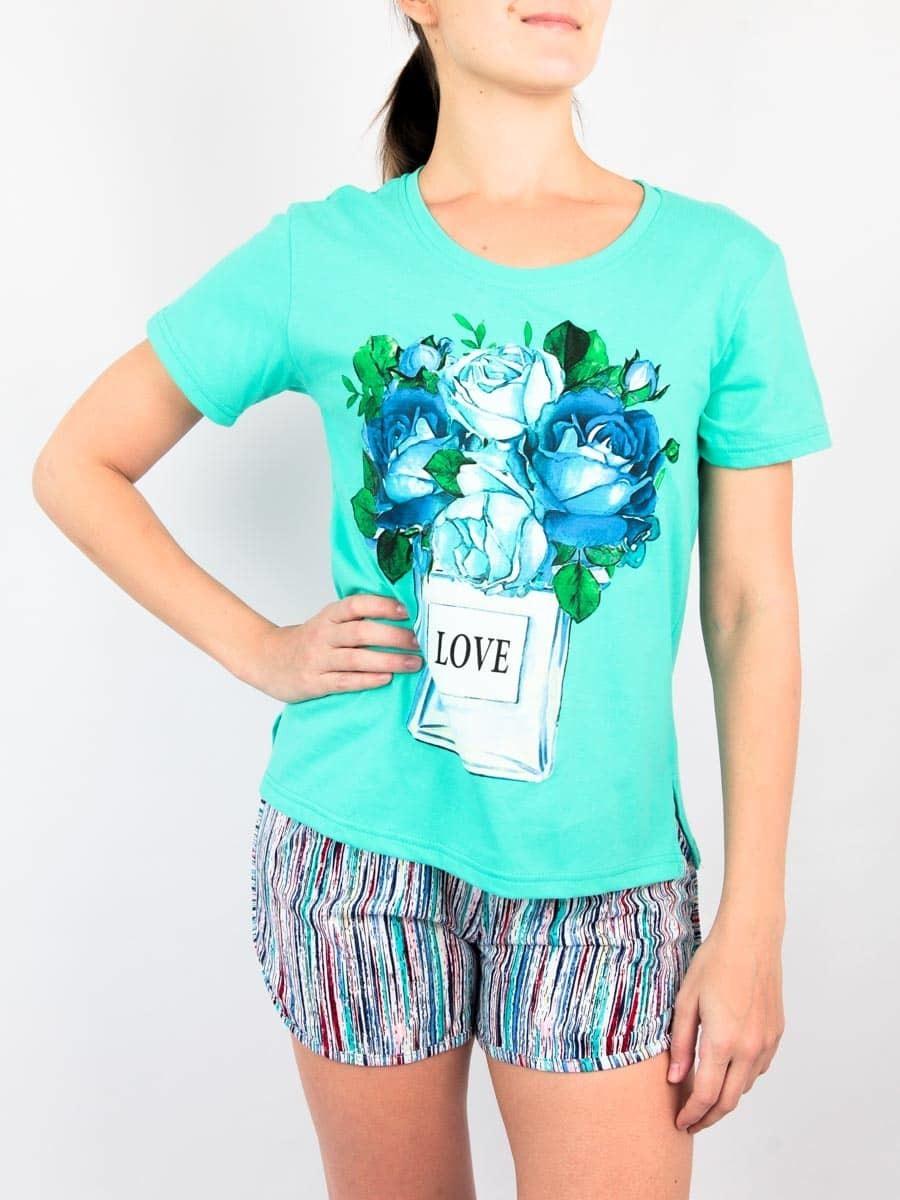 Натали Комплект женский футболка+шорты
