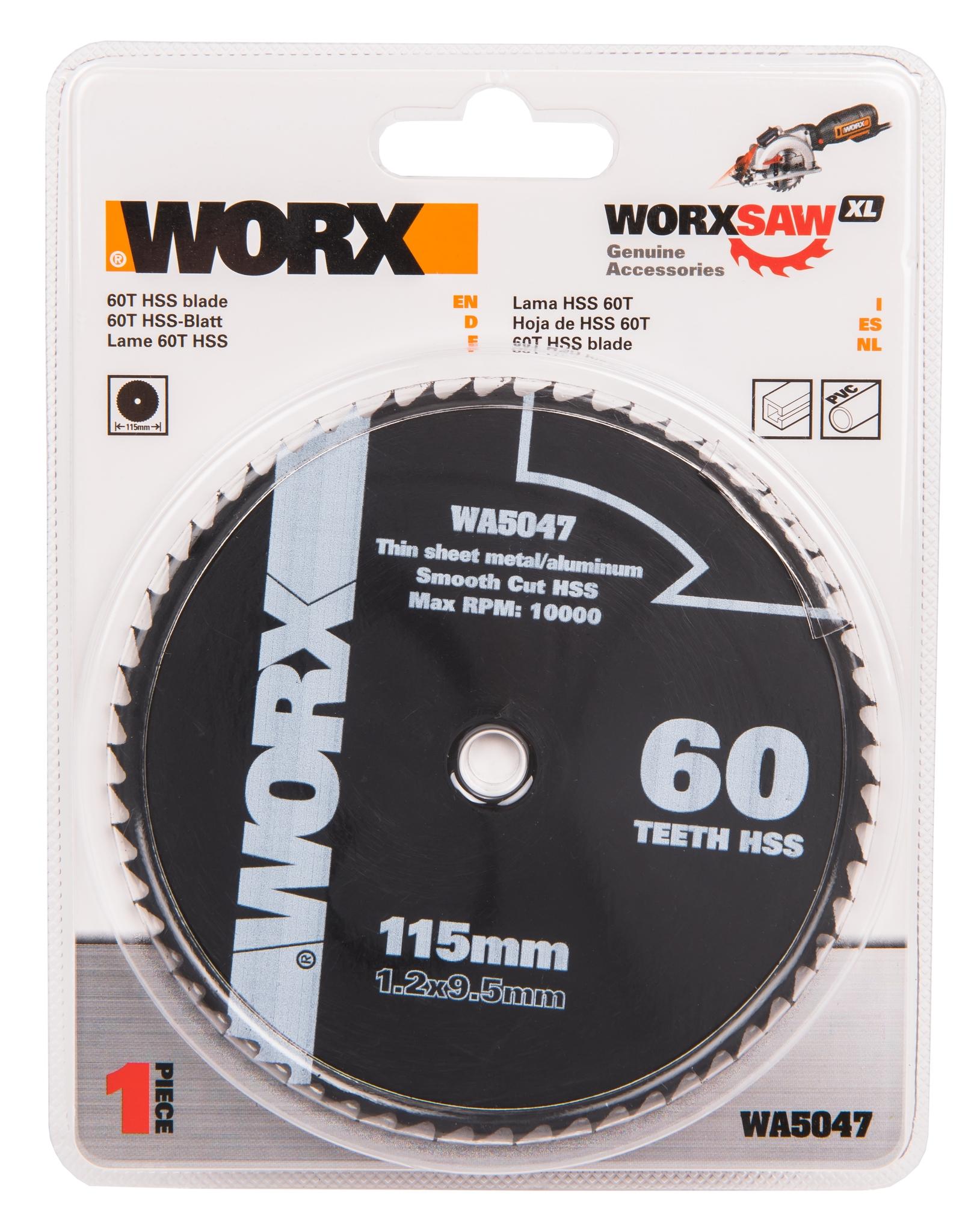 Пильный диск по металлу WORX WA5047