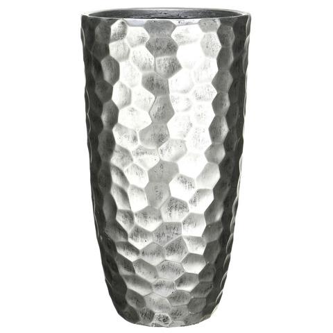 MVASE41-SLV Кашпо Мозаик Ваза, файберстоун, серебро, D41.5 H77 cm