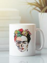 Кружка с рисунком Фрида Кало (Frida Kahlo) белая 003