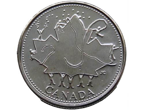 """25 центов """"50 лет правления"""" 2002 год UNC"""