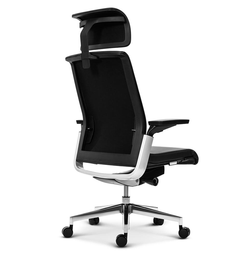 Эргономичное кресло руководителя Match черная кожа - вид 4