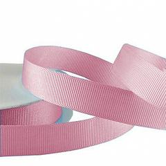 Лента Репсовая Розовый 12 мм * 22,85 м, 1 шт.