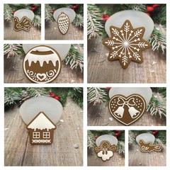 Молд « Новогоднее печенье Домик»