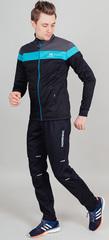 Утеплённый лыжный костюм Nordski Drive Black-Blue 2021 мужской