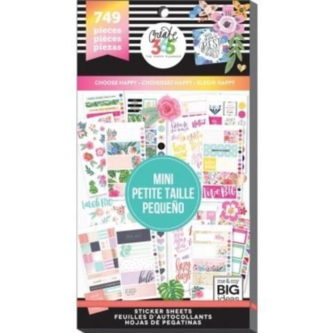Блокнот со стикерами для ежедневника Create 365 Happy Planner Sticker Value Pack- CHOOSE HAPPY - 749 шт
