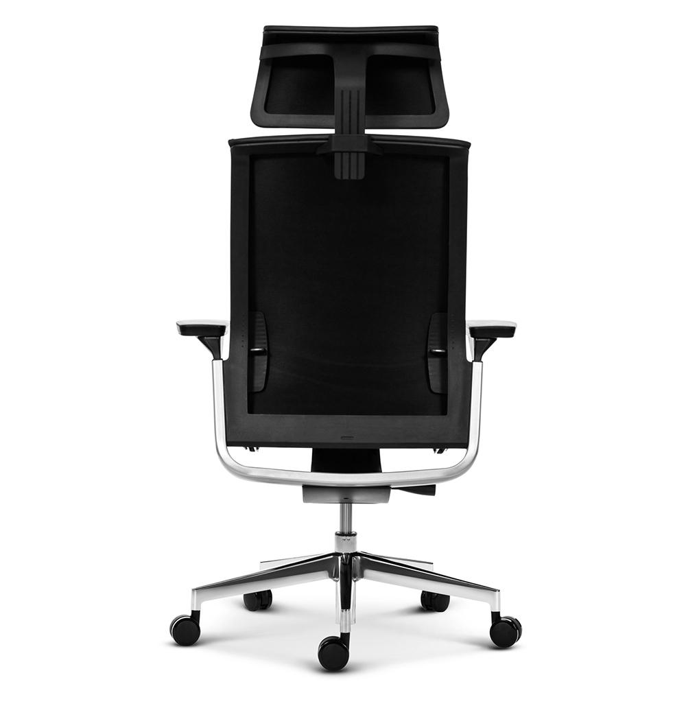 Эргономичное кресло руководителя Match черная кожа - вид 5