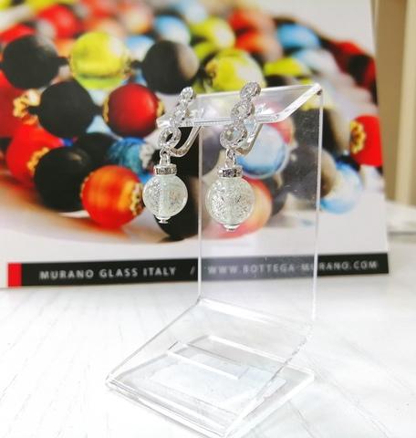 Серьги из муранского стекла со стразами Sandra Ca'D'oro Crystal 004OB