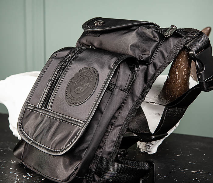 BAG506-1 Черная набедренная сумка из ткани «Оксфорд» фото 04