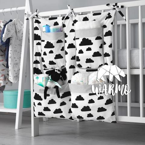 органайзер на ліжечко з чорними хмаринками фото