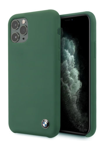 BMW / чехол для телефона iPhone 11 Pro | Signature Liquid silicone Hard Midnight green
