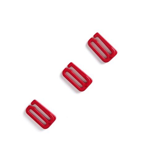 Крючок для бретели красный 15 мм (цв. 100)