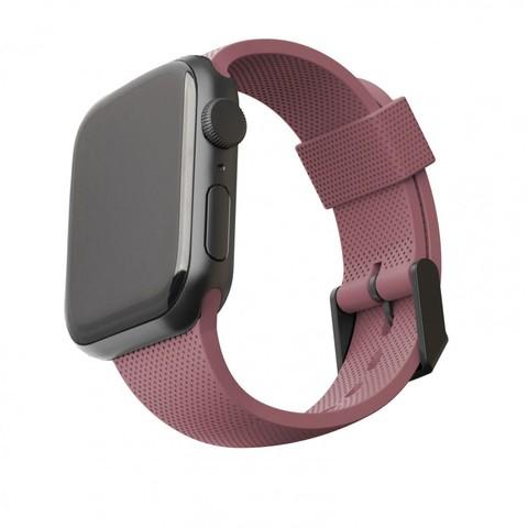 Ремень силиконовый [U] DOT textured Silicone для Apple Watch 44/42, розовая пыль (Dusty Rose)