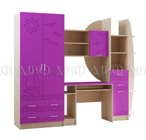 Детская Юниор-2 стенка фиолетовый